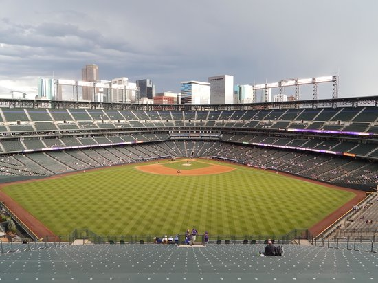 Coors Field: The view from the Rock pile seats...