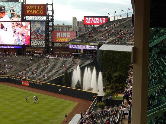 Coors Field: fountains in right center