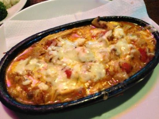 Sunset Restaurant: the best seafood casserole ever - with cheese!!