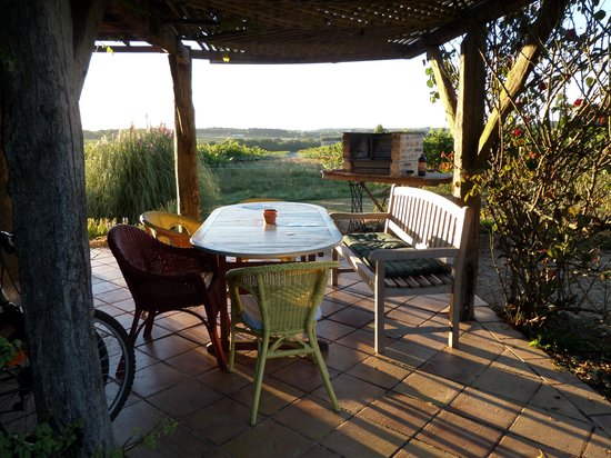 Massugas, France : View at breakfast