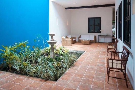 La Casa Azul: patio central