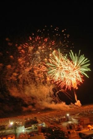 Hotel San Francisco Spiaggia: fuochi d'artificio, visti dalla camera