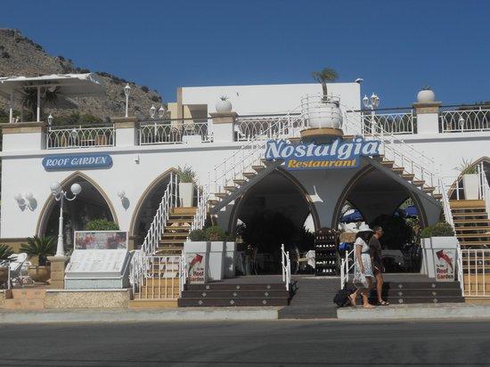 Pefkos beach hotel Nostalgia restaurant