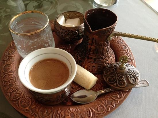 Drina Daisy Bosnian Restaurant: Turkish coffee