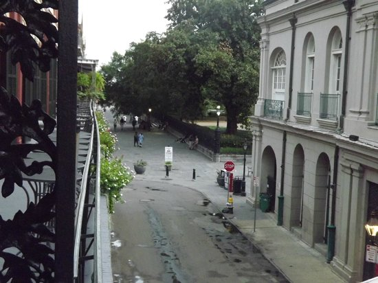 Place d'Armes Hotel: View from balcony at the front of the hotel