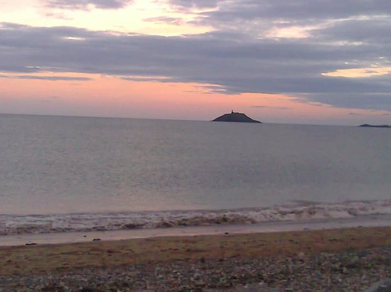Ballycotton lighthouse view from Garryvoe Hotel