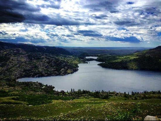 Half Moon Lake Lodge View From A Hike On The