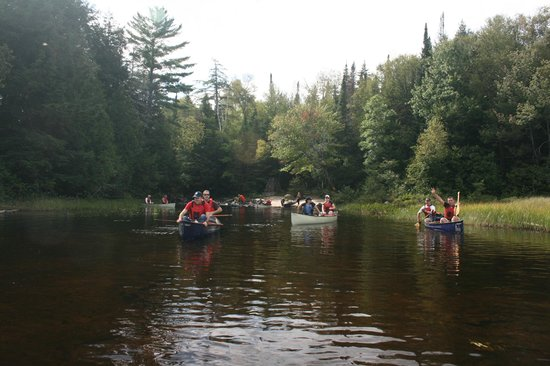 Northern Edge Algonquin: Part of the group canoeing.