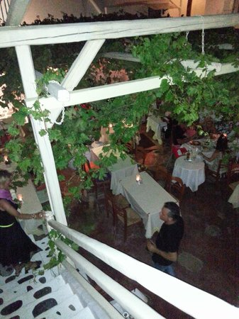 Eva's Garden Restaurant : Vista da sopra