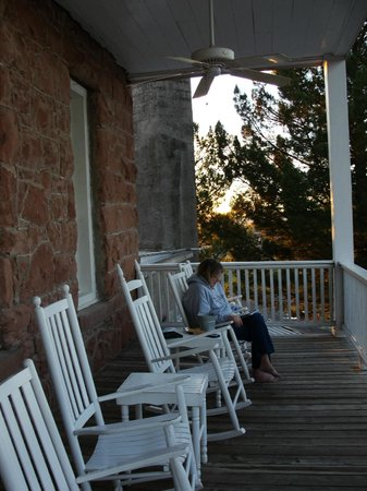 The Hotel Limpia : On the upstairs porch