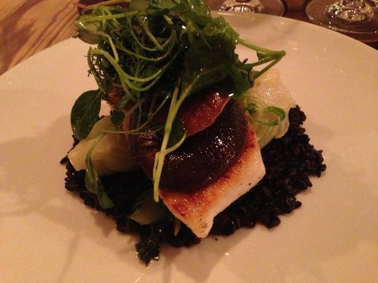 The Wine Kitchen on the Creek: Halibut over black rice