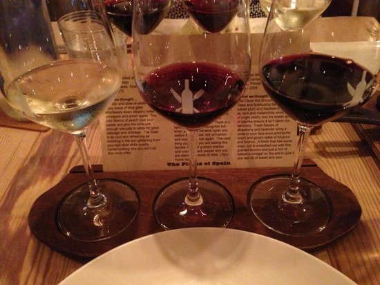 The Wine Kitchen on the Creek : Wines of Spain flight