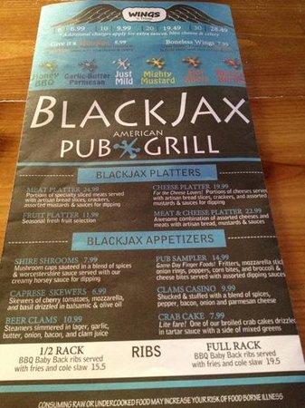 Blackjacks douglassville pa menu casino machine names
