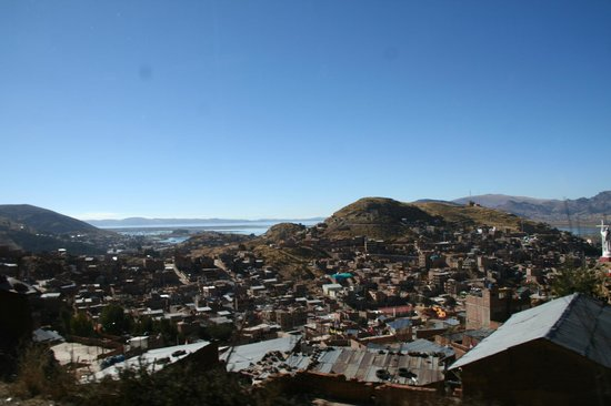 Santa Maria Inn Puno: View of the city, as we left Puno.