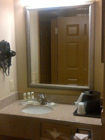Country Inn & Suites By Carlson, Richmond West at I-64: Bathroom sink (and ice bucket, lol)