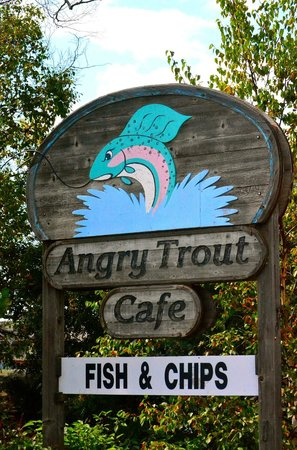 Angry Trout Cafe : Angry Trout Sign