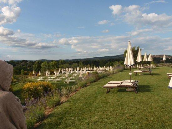San Giovanni Terme Rapolano: Area by the pool