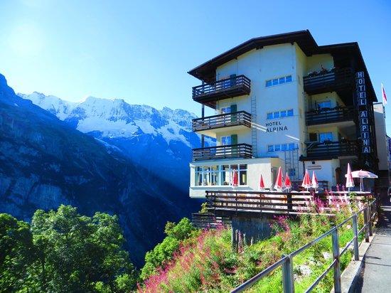 Hotel Alpina: Alpina in the morning sun
