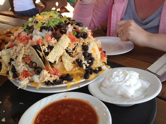 "Trapper Grill: The ""half"" mountain of nachos"