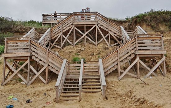 Nauset Light Beach: Beach Access Stairs.
