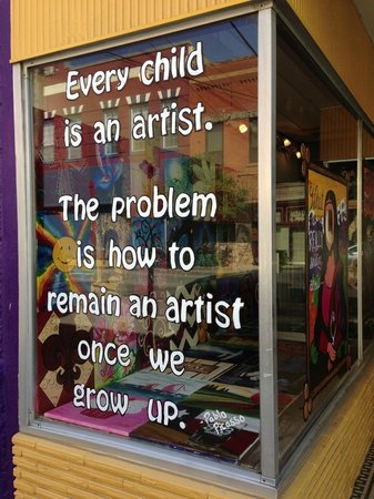 Painting with a Twist- Sherman: Picasso quote