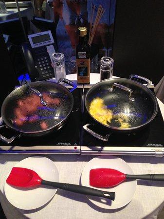 Le Camp SPA & Resort: Breakfast: yummy sausage & egg