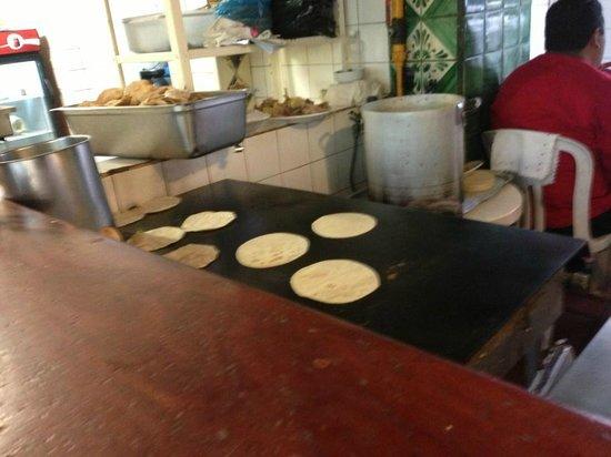 Casa Fuerte : Fresh hot homemade corn tortillas
