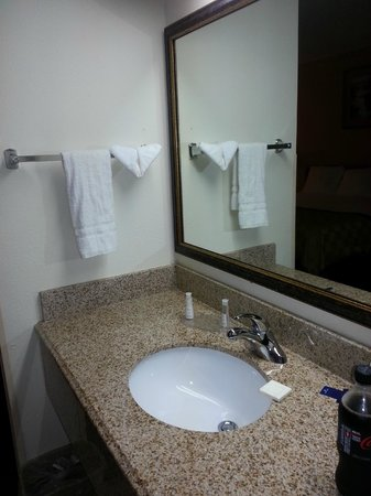 Days Inn & Suites Kansas City South: Nice and big vanity outside of shower==a positve
