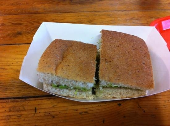 Ernie's Bakery and Deli : avocado sandwich.