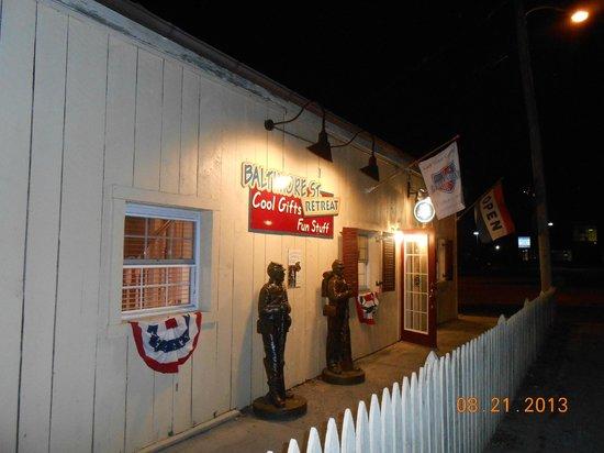 Mr. G's Ice Cream: Store behind the ice cream parlour