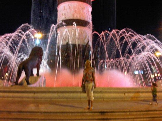 Macedonia Square: Square at night