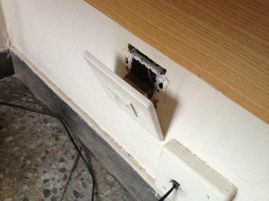 Hotel Climent: bedside socket