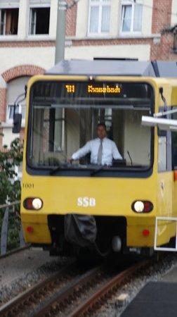 Zahnradbahn: Arriving at Marienplatz