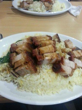 Red Horse Tea Bar: Crispy pork belly with egg fried rice