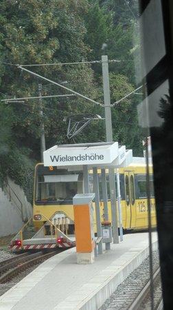 Zahnradbahn: Passing point on Rack Railway