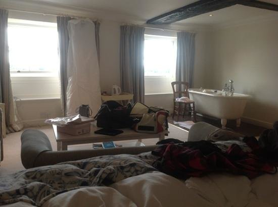 Bank House Hotel: lovely room...ignore our mess!!