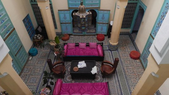 Riad Amazigh Meknes: Interno del Riad Amazigh