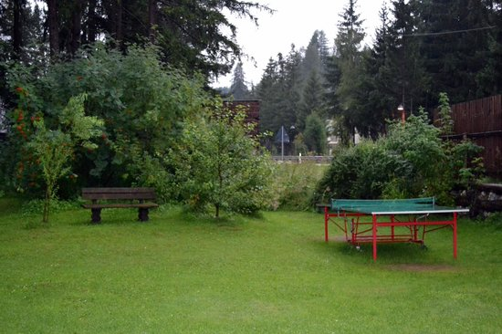 Garni Lamiri: Il tavolo da ping pong in giardino