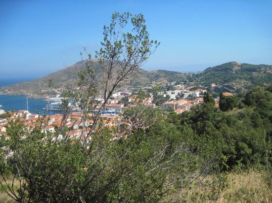 """view from """"the little train"""" at Collioure"""