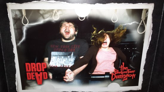 The Blackpool Tower Dungeon: ready for the....dropppppp!!!!! :O