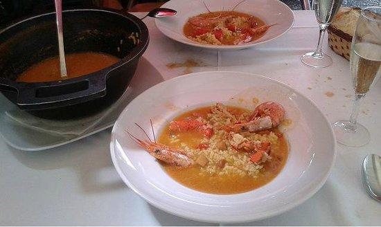 Restaurant Soli: arròs amb llamàntol i gamba vermella