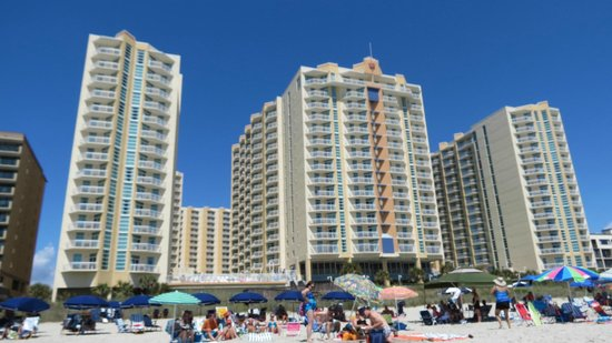 View From Beach Picture Of Wyndham Ocean Boulevard North Myrtle