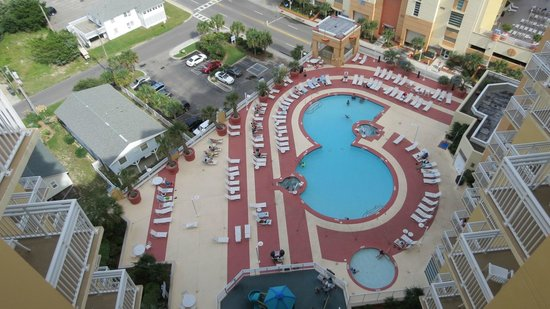 Wyndham Ocean Boulevard View From Balcony Tower 4 Pool Area