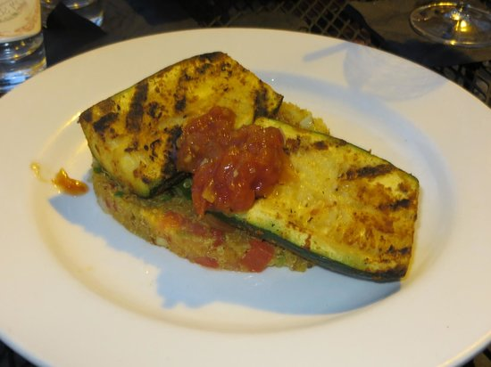 Tapas on Main: Zucchini steaks with quinoa