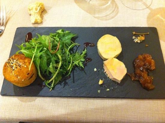 Les Boissieres: le foie gras (deja attaqué)