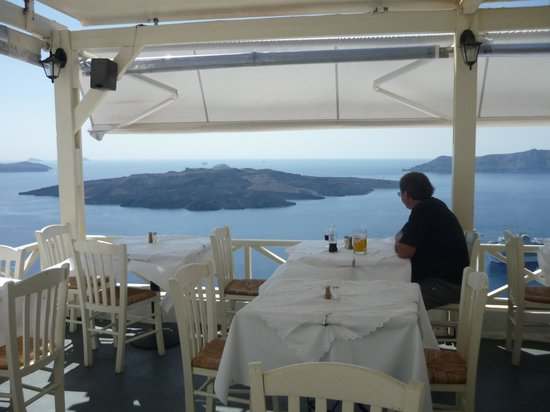 view from Lithos restaurant