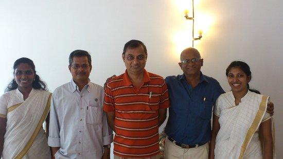 Tissa's Inn: Sanitha, Balaji , Me , Francis and Christina (L to R)
