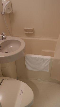 Hotel Crown Palaice Aomori: Normal standard bathroom in Japan