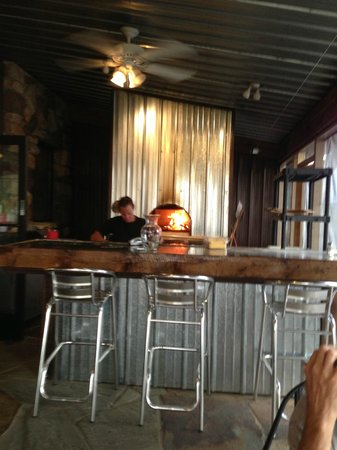 Foster Cheese Haus : patio pizza oven
