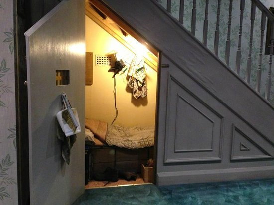 The Wizarding World of Harry Potter: Harry's room under the stairs at Privet Drive